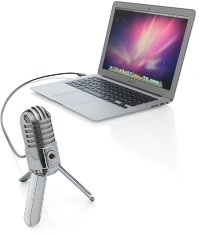 Meteor Mic with MacBook Air