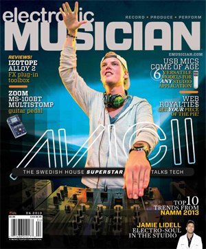 April 2013 Electronic Musician Cover