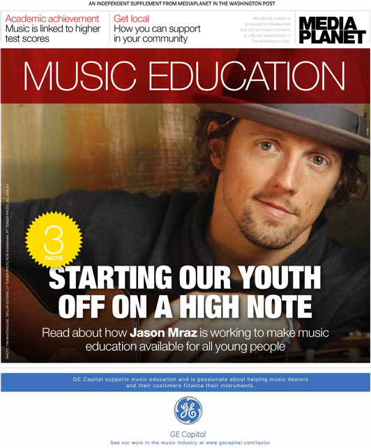 Cover for Washington Post Music Education Supplement