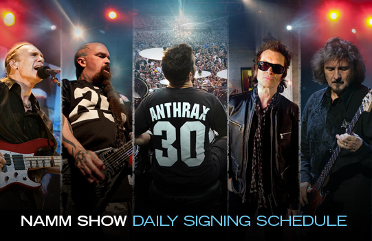 2012 NAMM Show Daily Signing Schedule