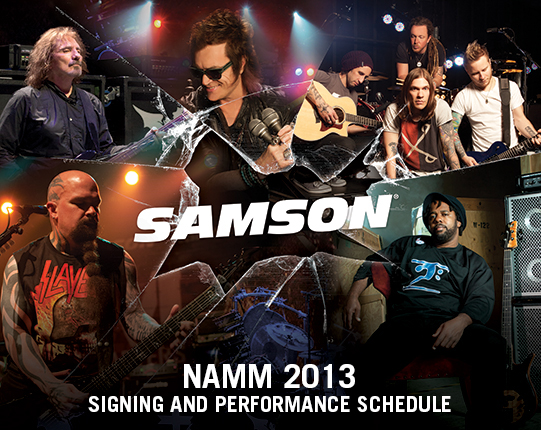 2013 NAMM Signing and Performance Schedule