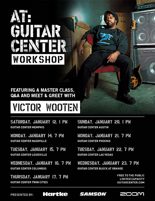 press release guitar center hartke and samson announce victor wooten at guitar center. Black Bedroom Furniture Sets. Home Design Ideas