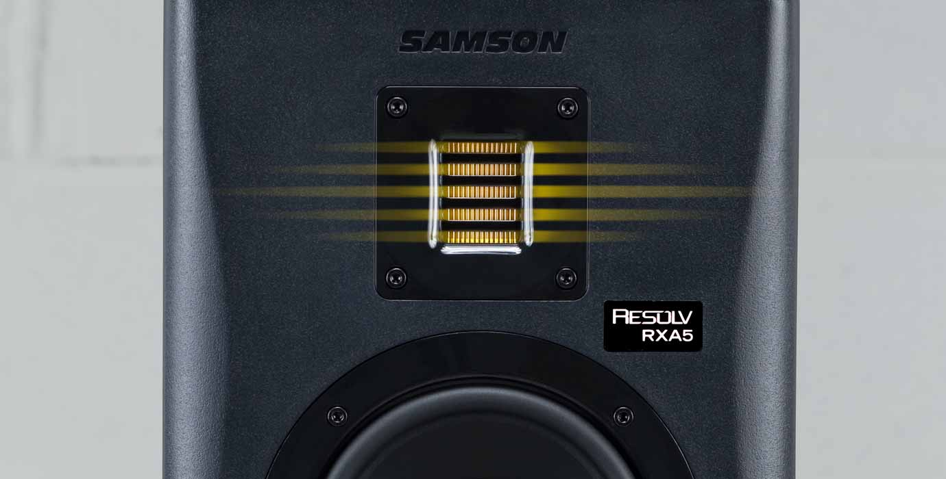 samson resolv rxa studio reference monitors with air displacement
