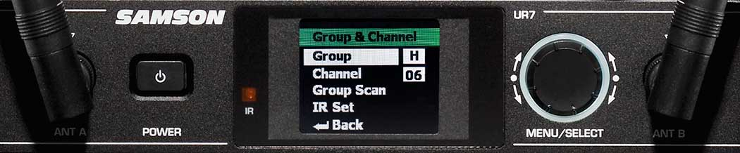 Synth 7 Group Scan Screen
