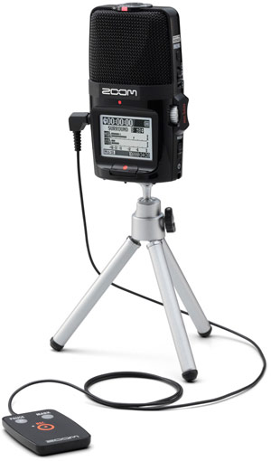 H2n on tripod with remote