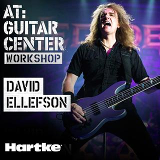 david ellefson at guitar center workshop tour samson technologies. Black Bedroom Furniture Sets. Home Design Ideas