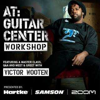 victor wooten at guitar center workshop tour samson technologies. Black Bedroom Furniture Sets. Home Design Ideas