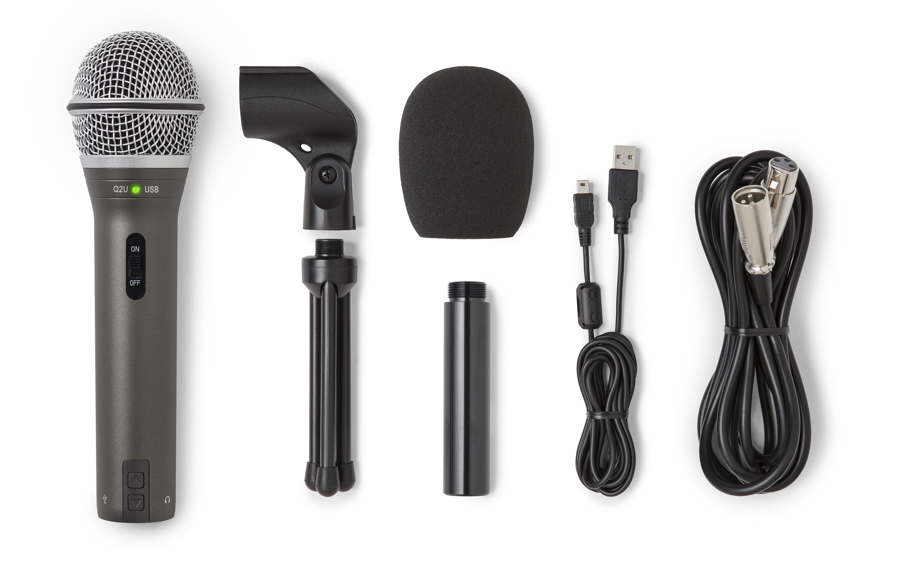 Samson Q2u Recording And Podcasting Pack Dynamic Mic Amplifier To Use Speaker As Microphone Electronic View Larger