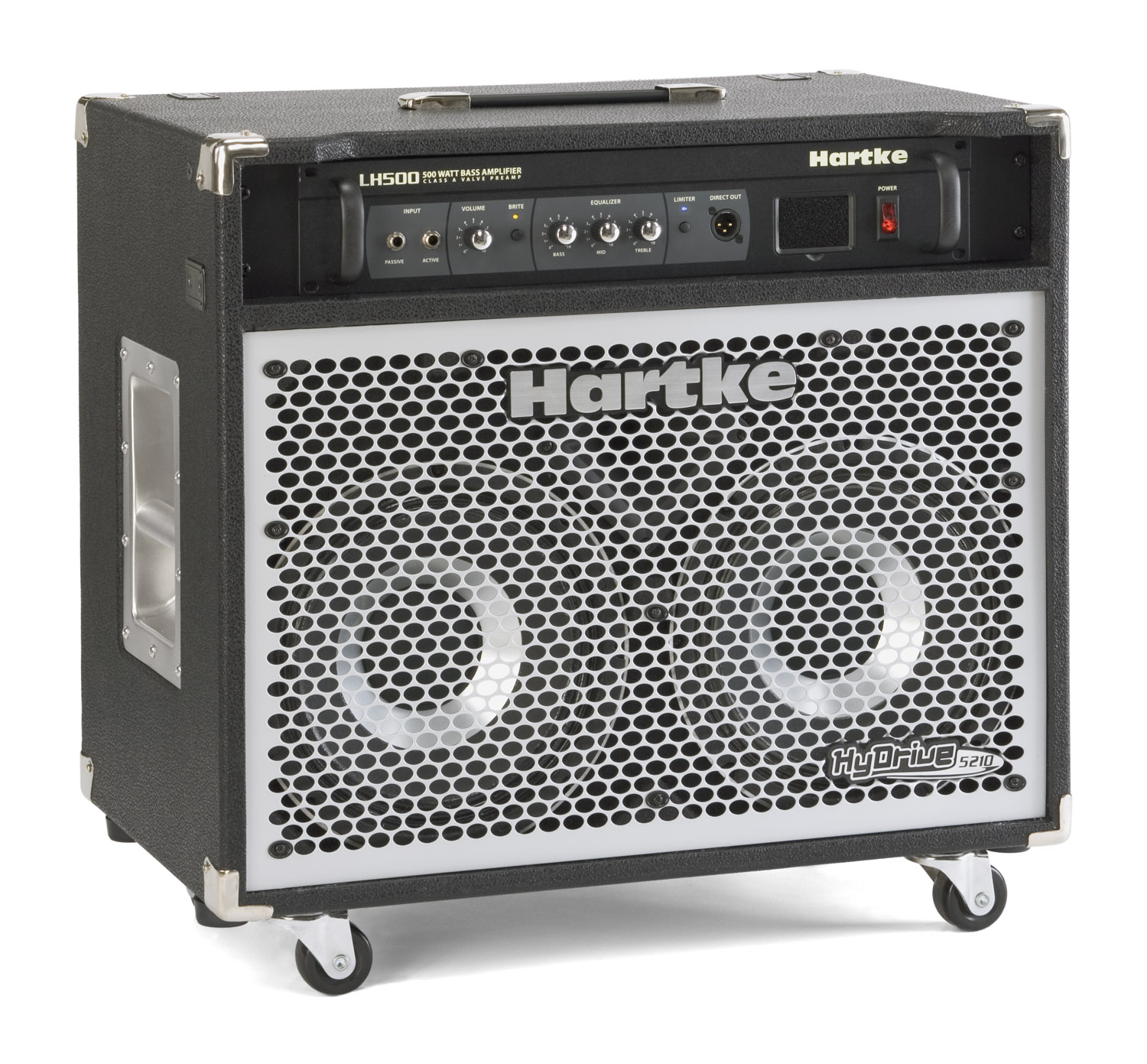 Hartke Hydrive 5210c Audio Power Amp Mid High Amplifier Portable Speaker
