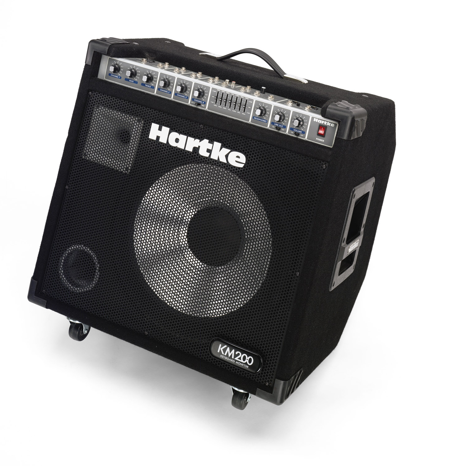 Hartke Km200 Amp Construction An Independent Amplifier Circuit Board Is Used For Keyboard Monitor Discontinued