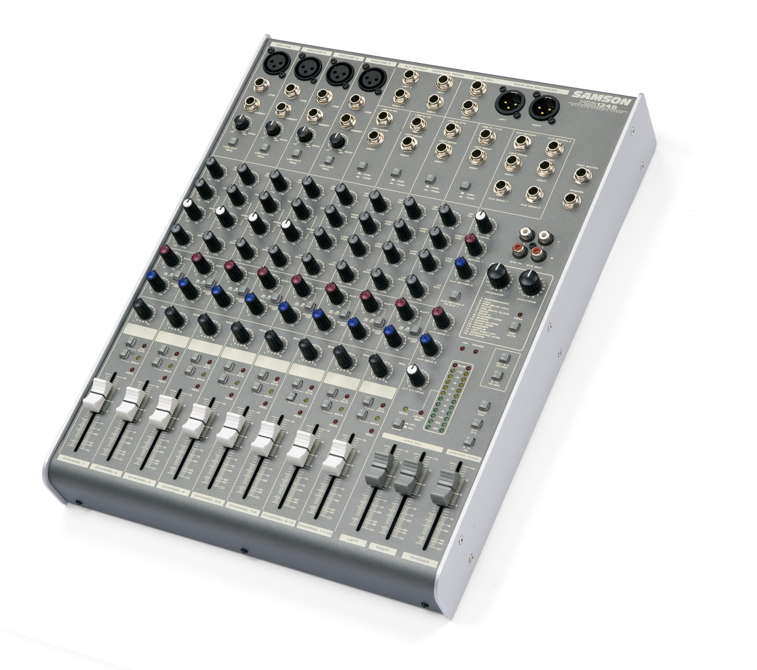 Samson Mdr1248 Low Cost Mic Mixer 12 Channel 4 Line With Dsp Discontinued